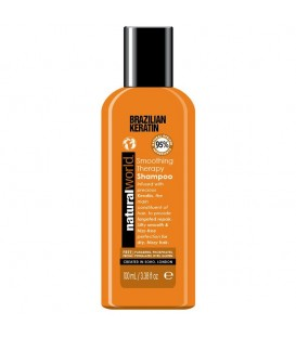 BRAZILIAN KERATIN OIL SMOOTHING THERAPY SHAMPOO 100ML NATURAL WORLD
