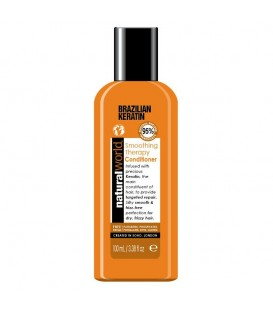 BRAZILIAN KERATIN OIL SMOOTHING THERAPY CONDITIONER 100ML NATURAL WORLD