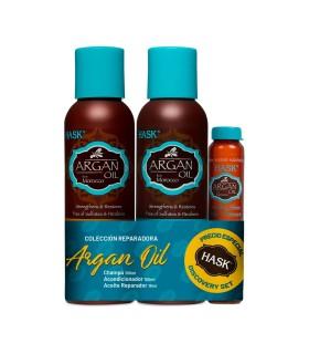 SET PROMO Champú+Acondicionador+Aceite Argan Oil HASK