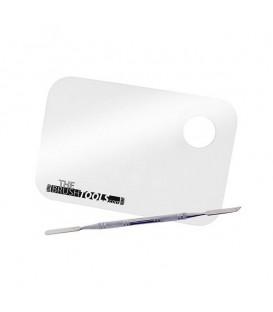 The Brush Tools Paleta transparente de mezcla y espátula