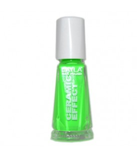 LAYLA NAIL POLISH CERAMIC EFFECT GREE FLUO