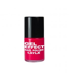 LAYLA GEL EFFECT NAIL POLISH CORAL RED