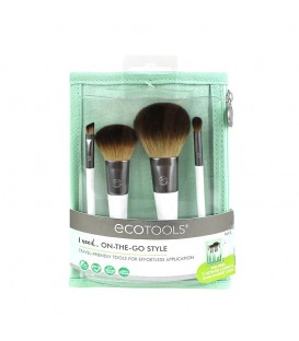 On-The-Go Style Kit - Set de 4 brochas + neceser ECOTOOLS