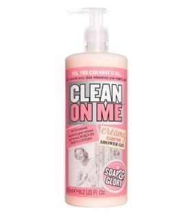 Soap & Glory Clean On Me  Creamy Clarifying Shower Gel  500ml 16.9 US Fl. Oz.  Wash