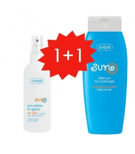 Ziaja Set Protector solar hidratante spray SPF50+ After Sun prolongador del bronceado