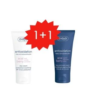 Ziaja Acai Set Crema facial SPF10 + Crema regeneradora y nutriente rostro y cuello