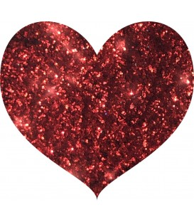 Glitters prensado Berry Red With Love Cosmetics