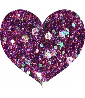 Glitters prensado Purple Crushed Diamonds With Love Cosmetics