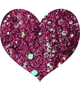 Glitters prensado Hot Pink Crushed Diamonds With Love Cosmetics