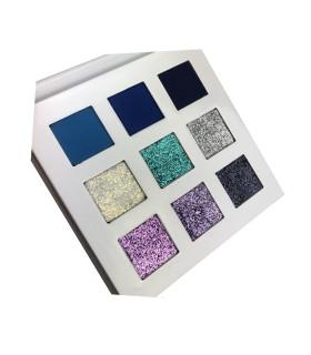 Paletas 9 sombras y pigmentos The Blue One With Love Cosmetics
