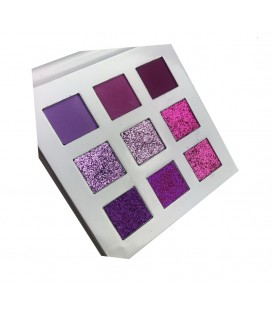 Paletas 9 sombras y pigmentos The Purple One With Love Cosmetics