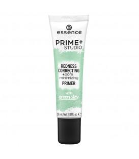 ess. prime + studio corrector de rojeces + primer minimizador de poros