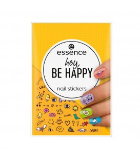 ess. hey, BE HAPPY stickers de uñas