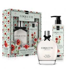 COQUETTE - SET FLEURS DU PARADIS EDT 100ML+ BL 200ML