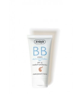Ziaja BB cream pieles grasas y mixtas SPF15 Oscuro 50ML