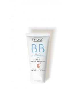 Ziaja BB cream pieles grasas y mixtas SPF15 Oscuro 50ML