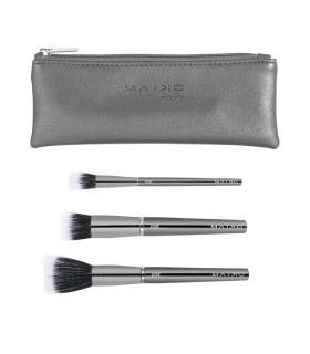 Maiko Set 3 Brochas DUO Fibra Luxury Grey