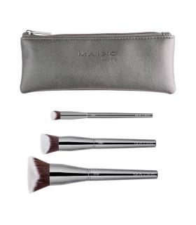 Maiko Set 3 Brochas Precisión Pack Luxury Grey