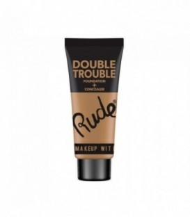 Rude - DOUBLE TROUBLE Foundation + Concealer - Fair