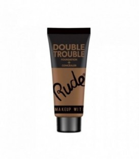 Rude - DOUBLE TROUBLE Foundation + Concealer - Walnut