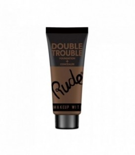 Rude - DOUBLE TROUBLE Foundation + Concealer - Espresso