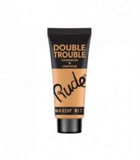 Rude - DOUBLE TROUBLE Foundation + Concealer - Ivory