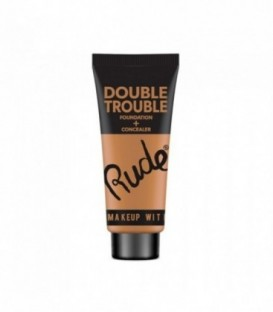 Rude - DOUBLE TROUBLE Foundation + Concealer - Warm Natural
