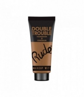 Rude - DOUBLE TROUBLE Foundation + Concealer - Cocoa