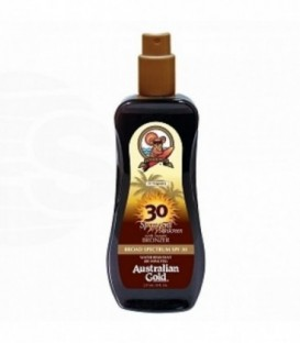 Australian Gold SPF 30 SPRAY GEL W/ BRONZER 237mL