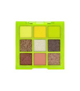 W7 Vivid Pressed Pigment Palette - Glowin' Green
