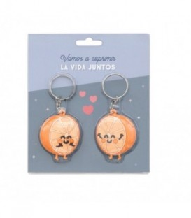 Mr. Wonderful - Set de 2 llaveros para exprimir la vida juntos