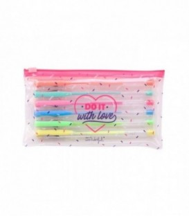 Mr. Wonderful - Set of 6 coloured pens - Do it with love