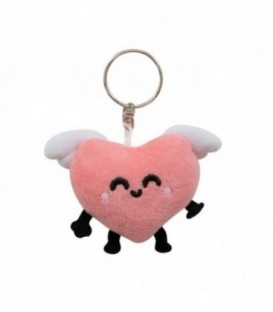 Mr. Wonderful - Plush keyring - Winged heart