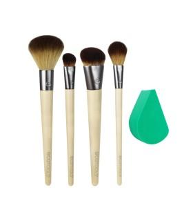 Airbrush Complexion Kit - Set de 4 brochas + esponja ECOTOOLS