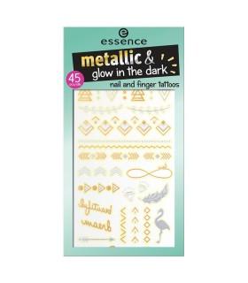 ess. metallic & glow in the dark tattoos para uñas y dedos 01